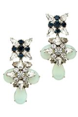 J.Crew Blue Grotto Crystal Earrings - Lyst