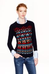 J.Crew Jacquard Stitch Fair Isle Sweater - Lyst