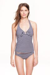 J.Crew Stripe Ring Underwire Swing Top - Lyst