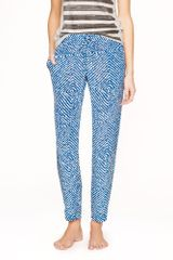 J.Crew Abstract Diamond Silk Pant - Lyst