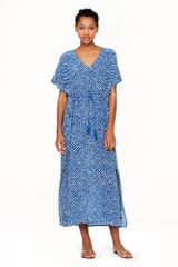 J.Crew Silk Maxi Tunic in Abstract Diamond - Lyst