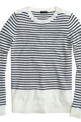 J.Crew Collection Cashmere Shoulder button Sweater - Lyst