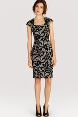 Karen Millen Dress Jacquard Lace Collection - Lyst