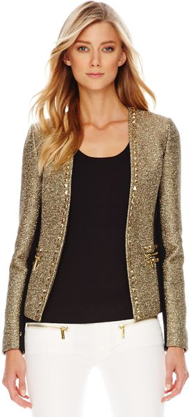 Michael Kors Michael Studded Tweed Ponte Jacket - Lyst