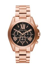 Michael Kors Rose Golden Stainless Steel Bradshaw Chronograph Watch - Lyst