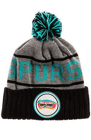 Lyst - Mitchell   Ness The San Antonio Spurs High 5 Beanie in Gray ... 22fd5df6a2c