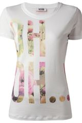 Moschino Cheap & Chic Uh Uh Printed Tshirt - Lyst