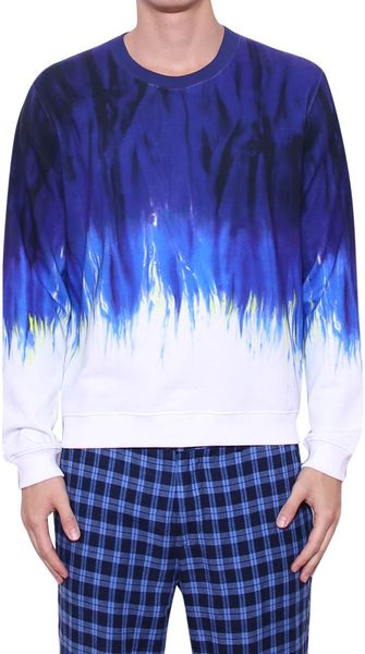 MSGM Printed Cotton Sweatshirt - Lyst