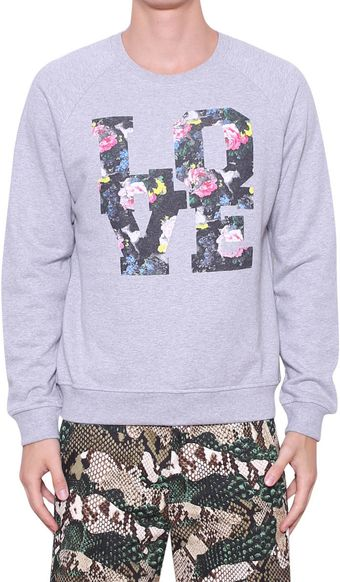 MSGM Cotton Sweatshirt with A Love Print - Lyst