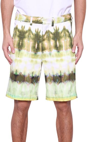 MSGM Tiedye Cotton Shorts - Lyst
