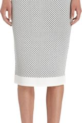Narciso Rodriguez Check Knit Pencil Skirt - Lyst