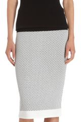 Narciso Rodriguez Check Knit Top - Lyst