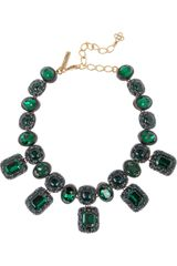 Oscar de la Renta Goldplated Resin Necklace - Lyst
