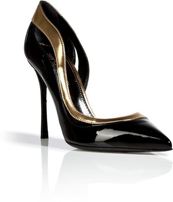 Sergio Rossi Patent Leather Dorsay Pumps - Lyst