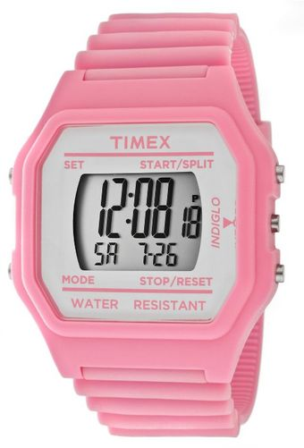 Timex® Multifunction Grey Digital Dial Pink Venus Rubber 2n104 Watch - Lyst