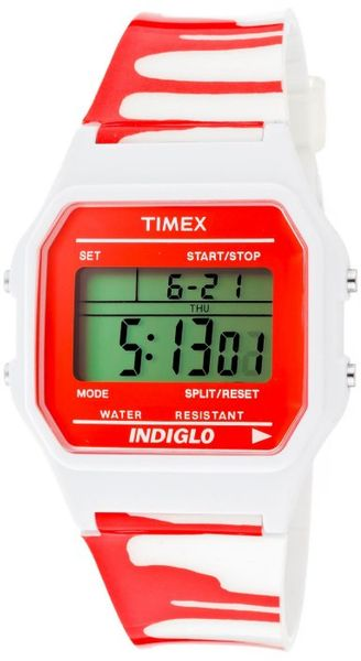 Timex® Womens Multifunction Grey Digital Dial White Zombie Resin 2n377 Watch - Lyst