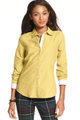 Tommy Hilfiger Cotton Button Down Shirt - Lyst