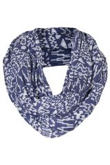 Topshop Geo Burnout Jersey Snood - Lyst