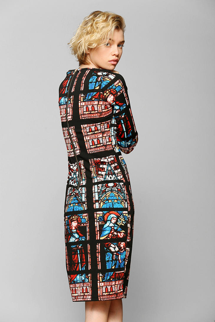 Lyst Urban Outfitters Glamorous Stained Glass Midi Dress
