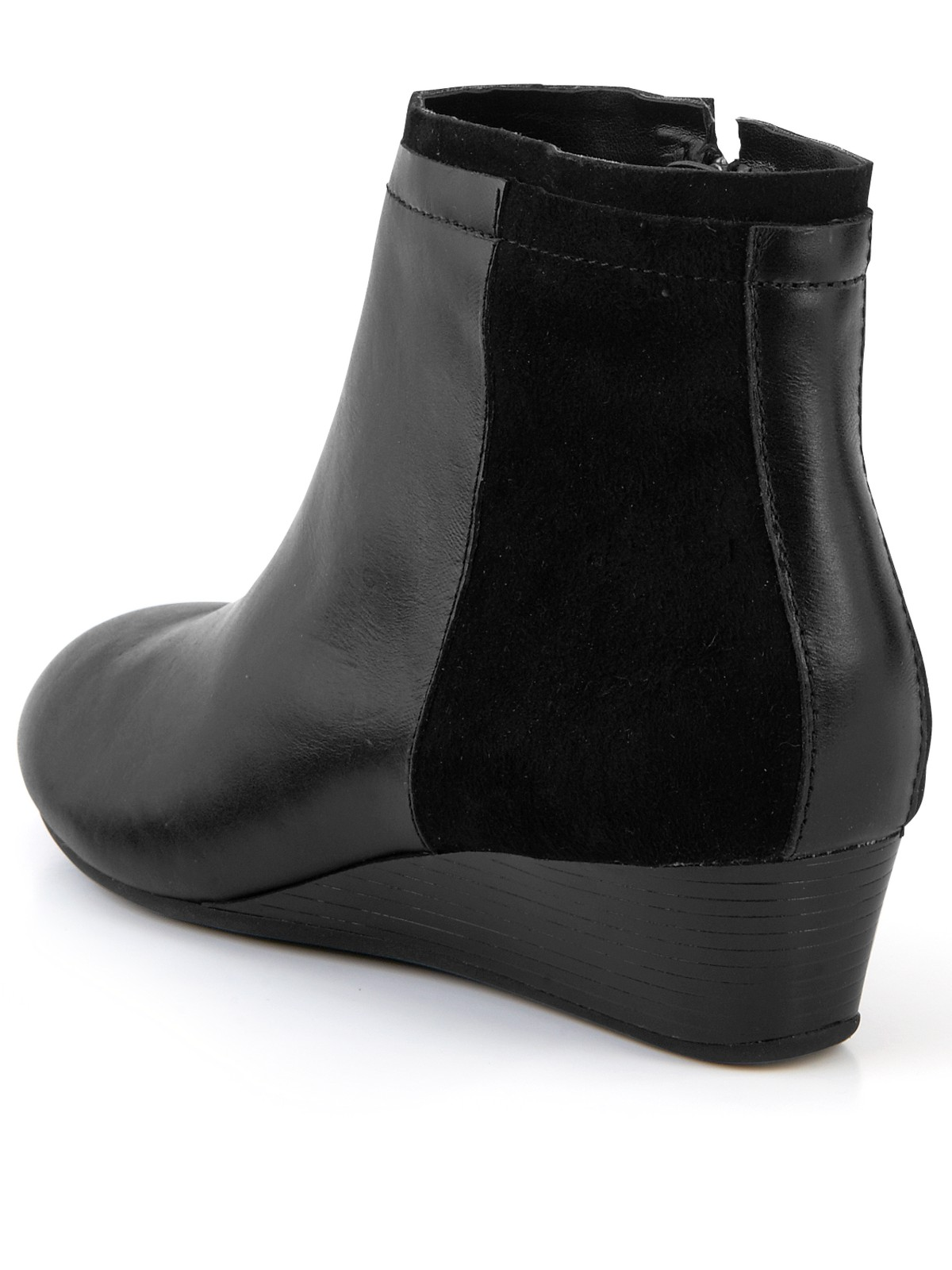 hush puppies 174 hush puppies candid low wedge boots in black