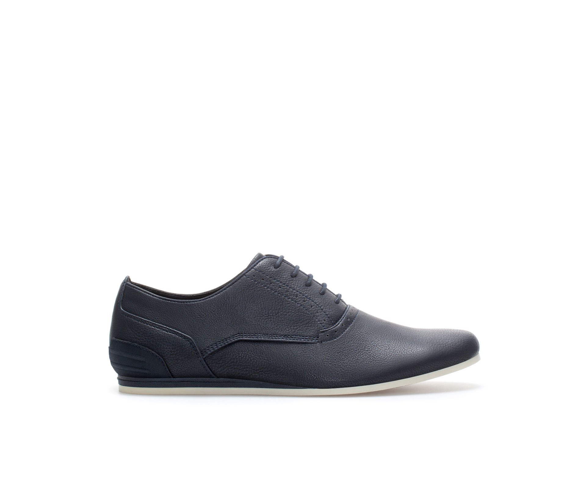 Zara Slim-fit Wedge Shoe in Blue for Men | Lyst