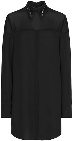 3.1 Phillip Lim Embellished Collar Shirt Dress - Lyst