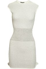 Alexander McQueen Textured Stretch knit Mini Dress - Lyst