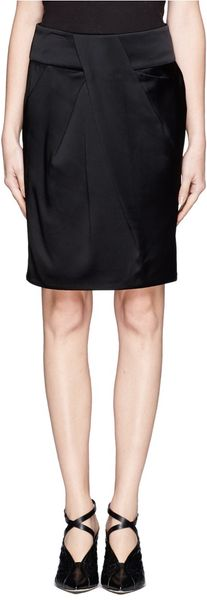 Alexander Wang Drapeover Pleated Skirt - Lyst
