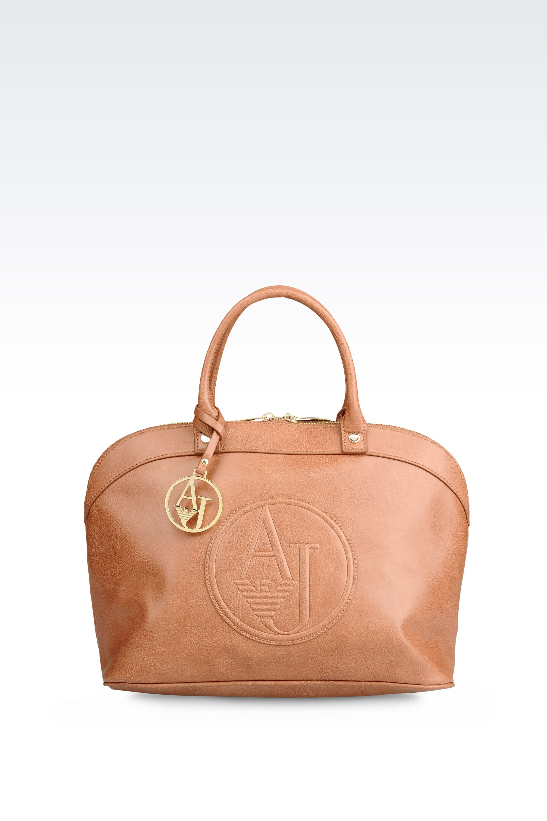 2a81c514e06 Lyst - Armani Jeans Vintage Style Eco Leather Bugatti Bag in Brown