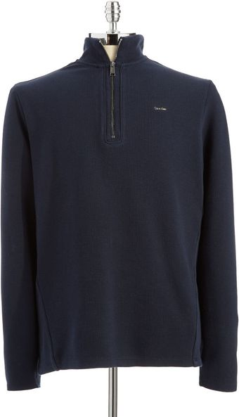 Calvin Klein Thermal Half Zip - Lyst