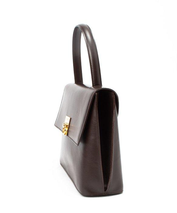 celine brown leather handbag gusset