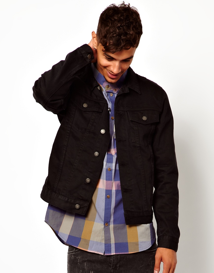 Cheap monday Denim Jacket in Black for Men | Lyst