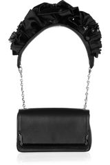 Christian Louboutin Artemis Ruffled Leather Shoulder Bag - Lyst