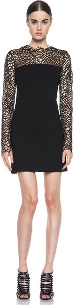 Christopher Kane Crepe Crackle Dress - Lyst