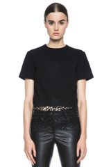 Christopher Kane Crepe Crackle Tee - Lyst