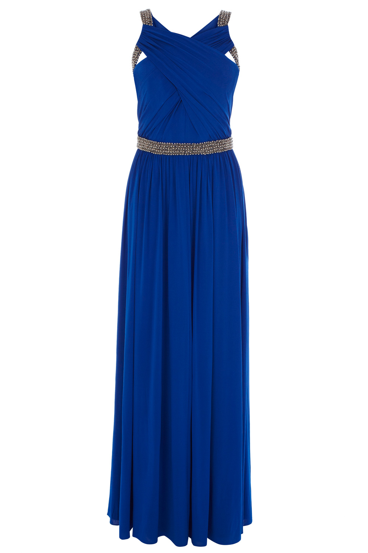 Coast Lauder Jersey Maxi Dress in Blue | Lyst