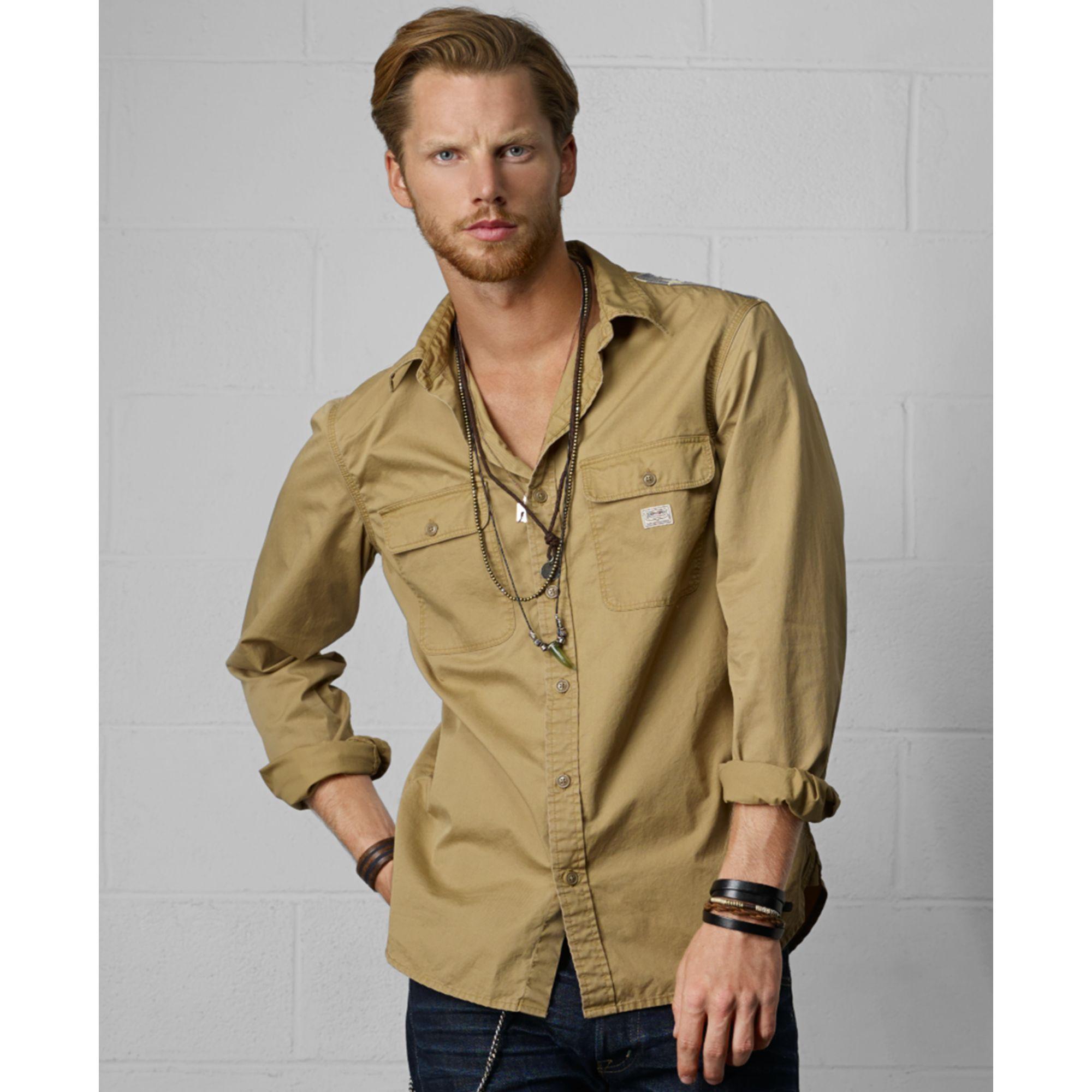 b8c0354afd Lyst - Denim   Supply Ralph Lauren Distressed Flag Ward Shirt in ...