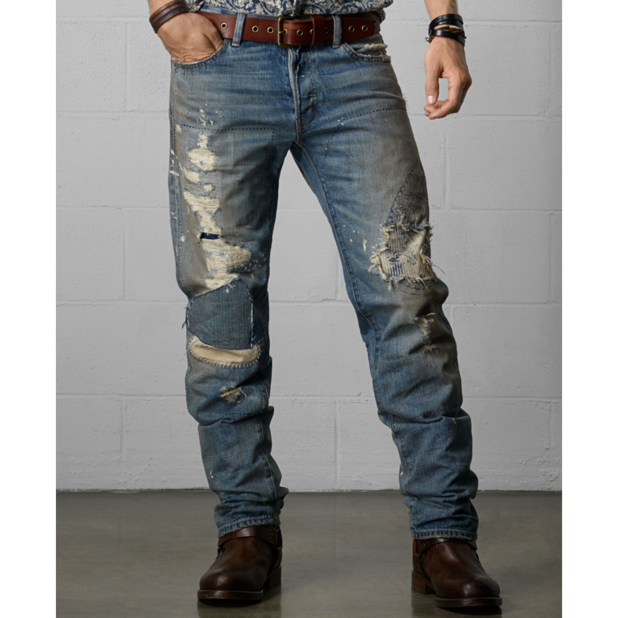Lyst - Denim & Supply Ralph Lauren Distressed Straightfit ...