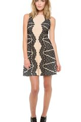 Diane Von Furstenberg Daniella Lace Detail Dress - Lyst