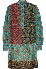 Duro Olowu Paisley Print Silk And Cotton Blend Mini Dress - Lyst