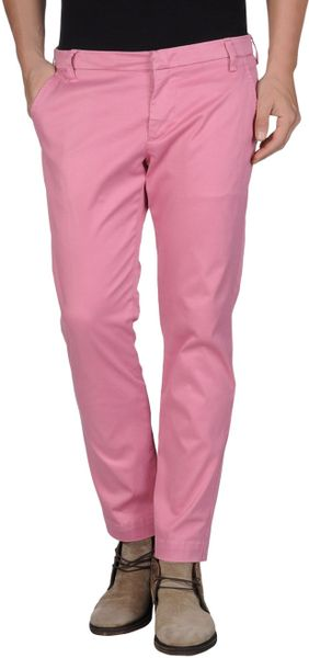 Entre Amis Casual Pants In Pink For Men Pastel Pink Lyst