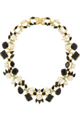 Erdem Vickisarge Goldplated Swarovski Pearl and Crystal Necklace - Lyst