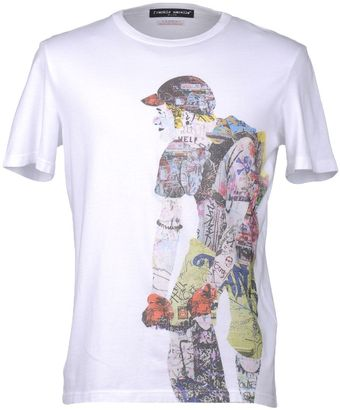 Frankie Morello Short Sleeve T-shirt - Lyst