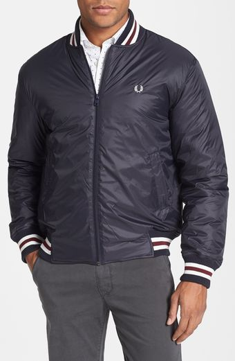 Fred Perry Tipped Tennis Bomber Jacket - Lyst