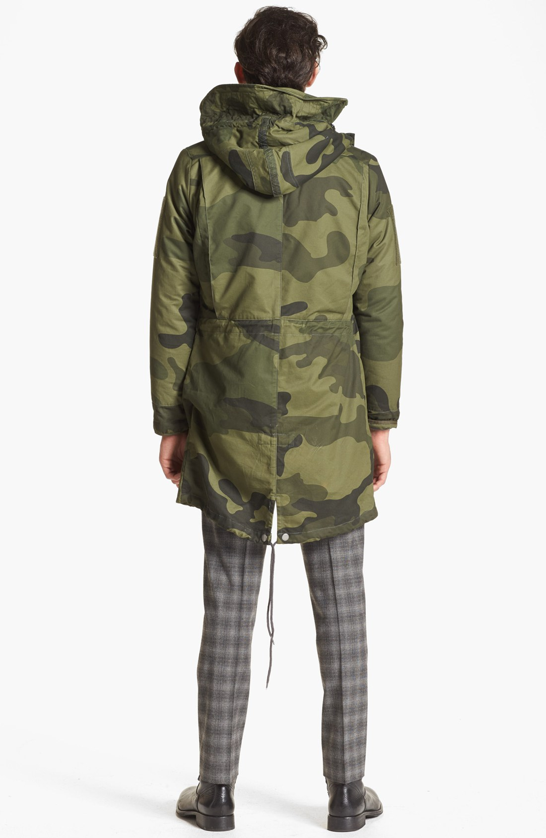 G-star raw Polar Hdd Camo Fishtail Parka in Natural for Men | Lyst