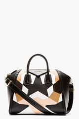 Givenchy Beige and Black Leather Patchworked Medium Antigona Duffle - Lyst