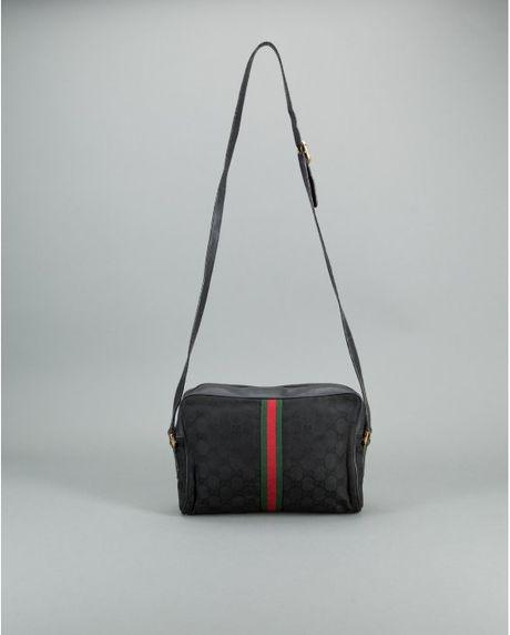 13af510e1e40 Gucci Vintage Crossbody Bag Black | Stanford Center for Opportunity ...