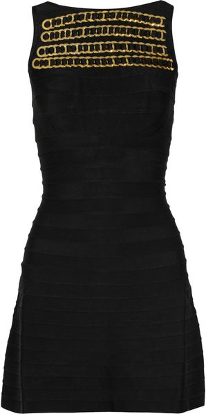 Hervé Léger Ring Embellished Bandage Dress - Lyst