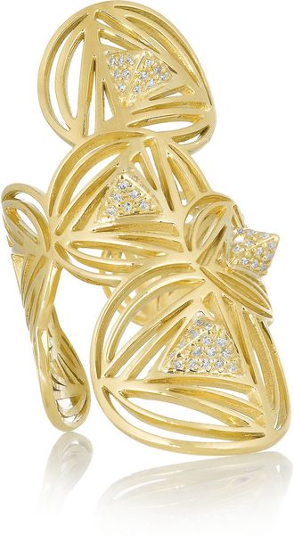 Ileana Makri Geometry 18karat Gold Diamond Ring - Lyst
