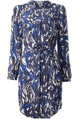 Isabel Marant Pleated Print Dress - Lyst